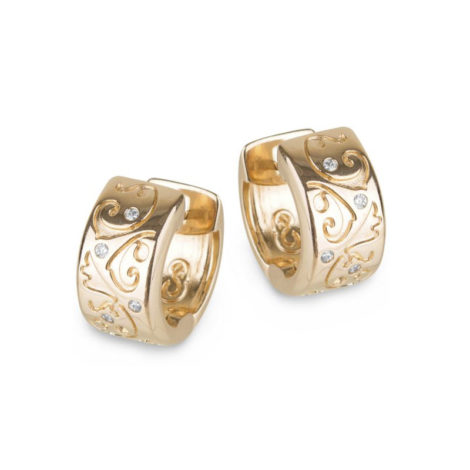 1689676 brinco argola com arabescos e zirconias marca sabrina joias loja revendedora brilho folheados 1