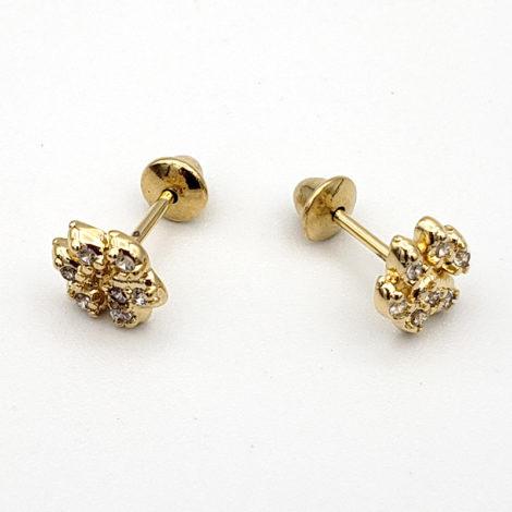 1689879 brinco patinha de cachorro com zirconia folheado ouro marca sabrina joias loja brilho folheados 1