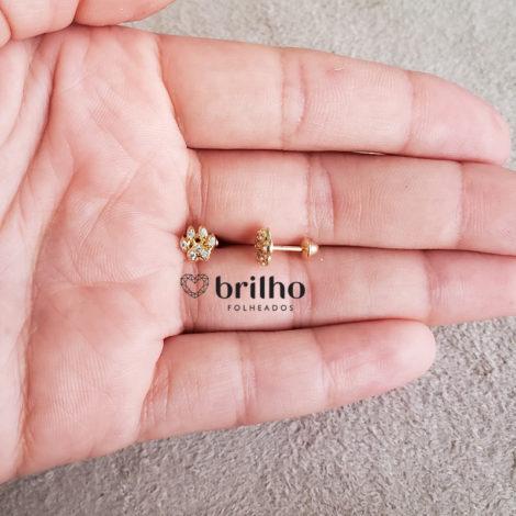 1689879 pingente patinha de cachorro mini marca sabrina joias loja revendedora brilho folheados foto modelo 3