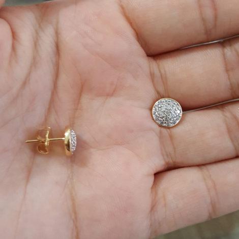 1690285 brinco redondo todo cravejado com zirconias brancas marca sabrina joias loja revendedora brilho folheados 4