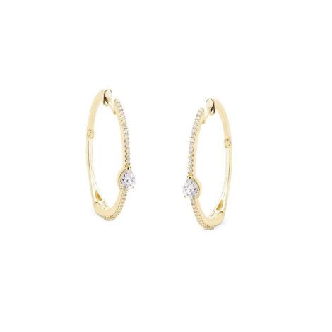 1690293 brinco argola media cravejada com zirconia gota cristal marca sabrina joias loja revendedora brilho folheados