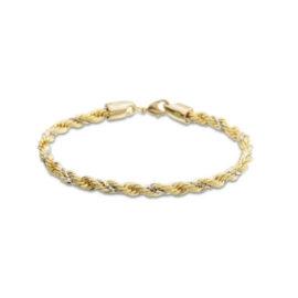 1714700 pulseira grosa trancada 2 tons marca sabrina joias loja revendedora brilho folheados 1