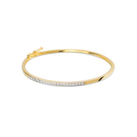 1717400 bracelete fino bipartido com meia fileira de zirconias brancas marca rommanel loja brilho folheados