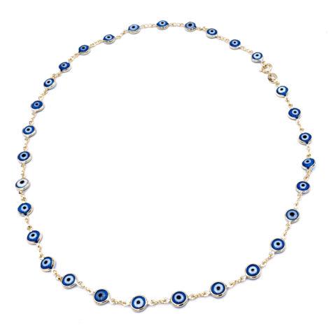 240e50 elos duplos compostos por pingente olho grego em resina marca sabrina joias loja brilho folheados 1
