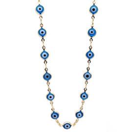 240e50 elos duplos compostos por pingente olho grego em resina marca sabrina joias loja brilho folheados