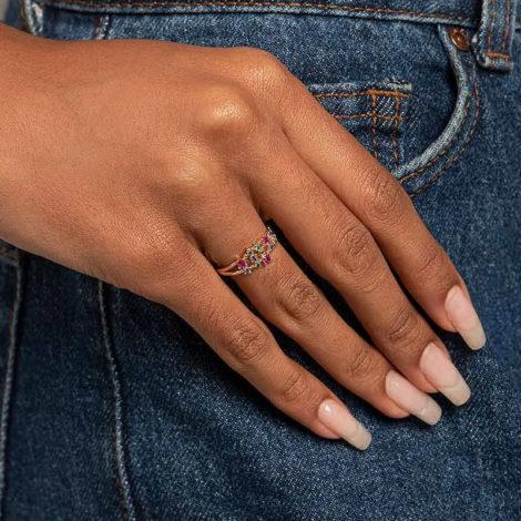 512845 anel composto por zirconias coloridas marca rommanel loja revendedora brilho folheados 1