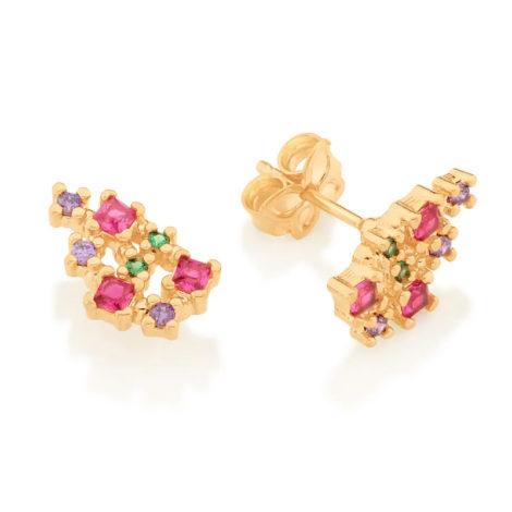 526450 brinco composto por 16 zirconias coloridas marca rommanel loja revendedora brilho folheados 4