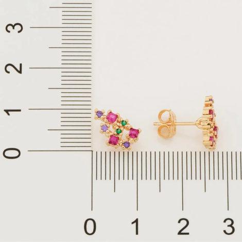 526450 brinco composto por 16 zirconias coloridas marca rommanel loja revendedora brilho folheados 5