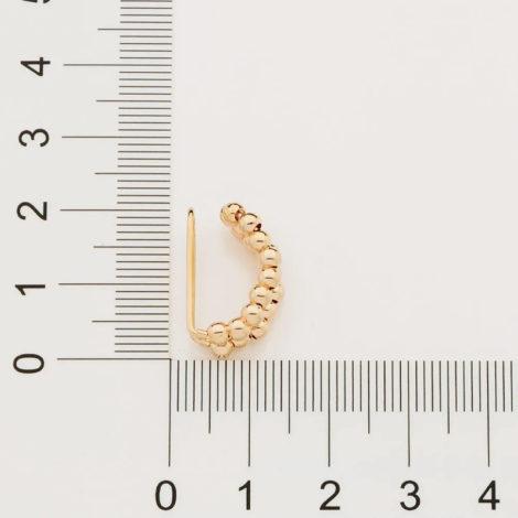 526488 brinco piercing de pressao formado por 19 esferas marca rommanel loja brilho folheados 1