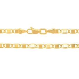 530746 cordao formado por fio elo longo diamantado pino largo no centro marca rommanel loja revendedora brilho folheados 1