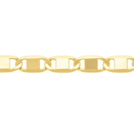530746 cordao formado por fio elo longo diamantado pino largo no centro marca rommanel loja revendedora brilho folheados 3