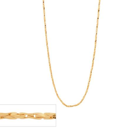 531628 cordao corrente formado por fio torcido diamantado folheado a ouro marca rommanel loja revendedora brilho folheados 1