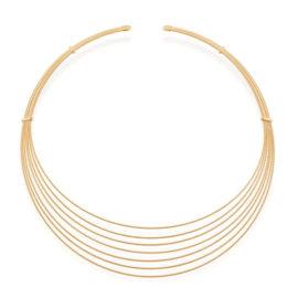532057 gargantilha chocker fomada por 7 fios trabalhados e diamantados marca rommanel loja revendedora brilho folheados
