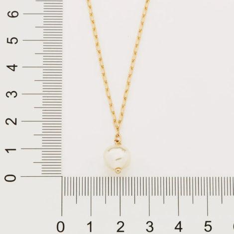 532061 gargantilha formada por fio elos longos e diamantados composta por 1 perola de agua doce sintetica irregular marca rommanel loja brilho folheados 1