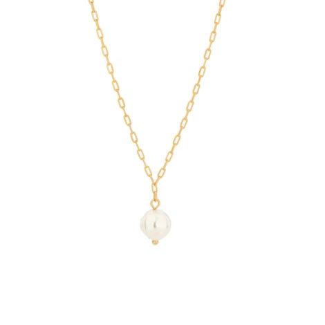 532061 gargantilha formada por fio elos longos e diamantados composta por 1 perola de agua doce sintetica irregular marca rommanel loja brilho folheados
