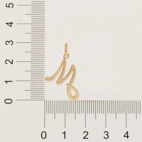 540675 pingente letra m estilizada marca rommanel loja revendedora brilho folheados 2