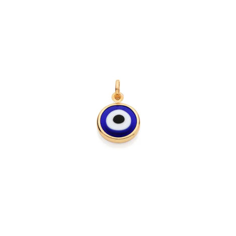 541649 pingente formato olho grego azul escuro folheado a ouro 18k joia rommanel loja revendedora brilho folheados 2