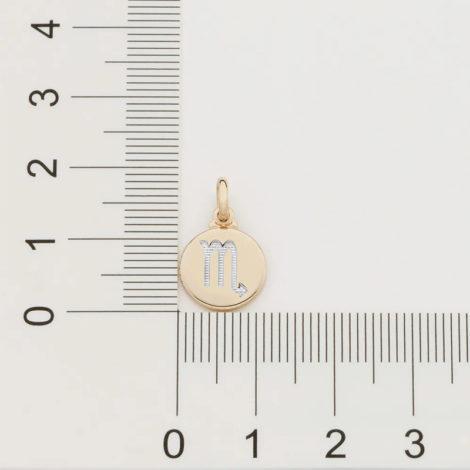 542198 pingente redondo pequeno com simbolo escorpiao marca rommanel loja revendedora brilho folheados 5
