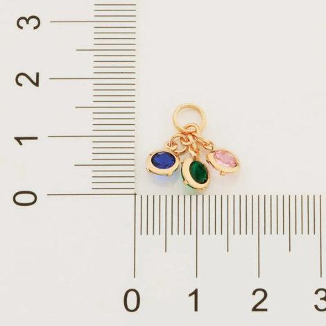 542273 pingente composto por 3 zirconias coloridas marca rommanel loja revendedora brilho folheados 1