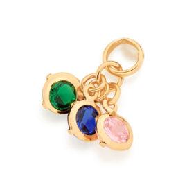 542273 pingente composto por 3 zirconias coloridas marca rommanel loja revendedora brilho folheados