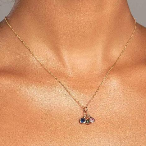 542273 pingente composto por 3 zirconias coloridas marca rommanel loja revendedora brilho folheados foto modelo