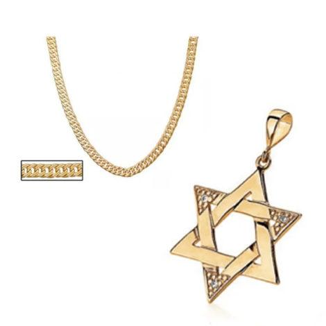 cordao rommanel com pingente grande estrela de salomao marca rommanel loja revendedora brilho folheados 1