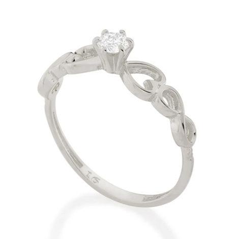 110850 anel solitario com detalhe de coracao e infinito nas laterais marca rommanel loja brilho folheados 1