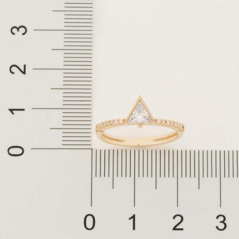 512848 anel solitario cravejado composto por zirconia triangular folheado a ouro marca rommanel loja revendedora brilho folheados 4