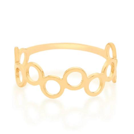 512849 anel formado por circulos vazados folheado a ouro marca rommanel loja revendedora brilho folheados 2