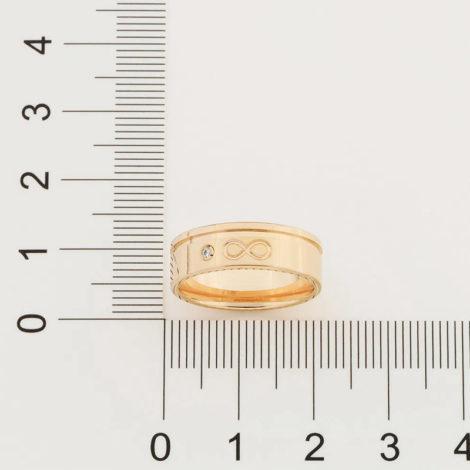 512866 aliança lisa com símbolo infinito ao centro e 1 zircônia marca rommanel loja revendedora brilho folheados 4