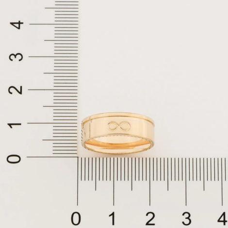 512868 aliança lisa com símbolo infinito marca rommanel loja revendedora brilho folheados 4