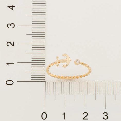 512878 anel ajustável formado por aro formato corda composto por âncora e zircônia marca rommanel loja revendedora brilho folheados 4