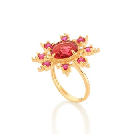 512880 maxi anel zirconias rosa e vermelha marca rommanel loja revendedora oficial brilho folheados 1