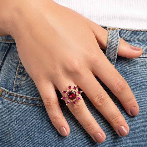 512880 maxi anel zirconias rosa e vermelha marca rommanel loja revendedora oficial brilho folheados 3