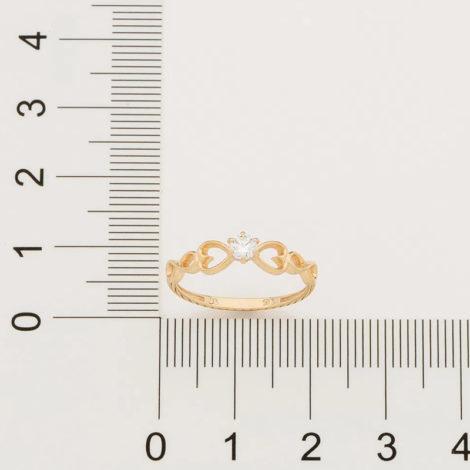 512889 anel dourado solitario com detalhe de coracao e infinito nas laterais marca rommanel loja brilho folheados 2