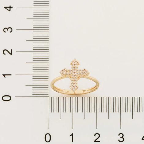512900 anel composto por cruz cravejada folheado a ouro marca rommanel loja revendedora brilho folheados 2