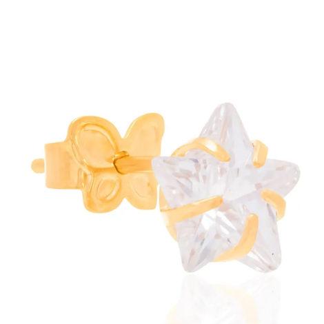 524205 brinco pedra zirconia no formato de uma estrela marca rommanel loja brilho folheados 2