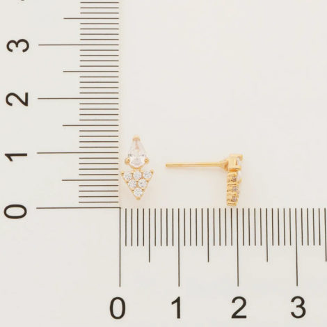526455 brinco gota cristal composto por parte triangular cravejada folheado a ouro marca rommanel loja revendedora brilho folheados 4