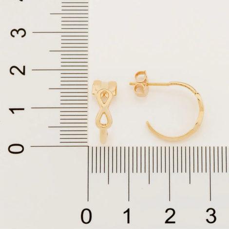 526485 brinco meia argola símbolo infinito vazado marca rommanel loja revendedora brilho folheados 4