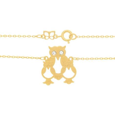 531333 cordao pingente familia de coruja marca rommanel loja brilho folheados 1