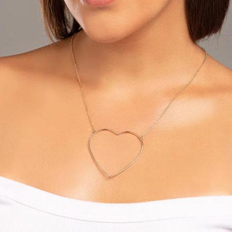 532069 maxi colar com maxi coracao vazado folheado a ouro marca rommanel loja revendedora oficial brilho folheados 1