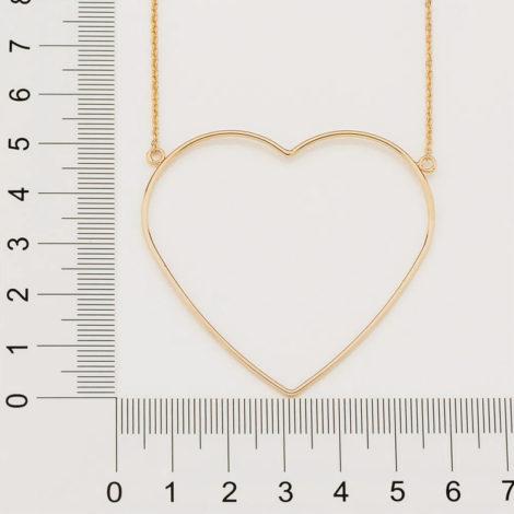 532069 maxi colar com maxi coracao vazado folheado a ouro marca rommanel loja revendedora oficial brilho folheados 2