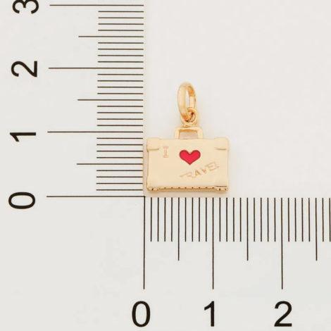 542267 pingente no formato mala escrito i love travel marca rommanel loja revendedora brilho folheados 2