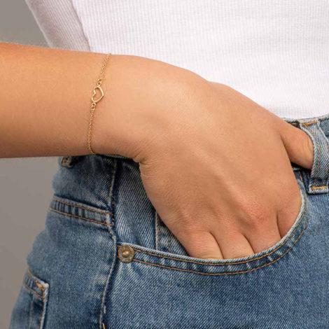 551674 pulseira elos delicado pingente coracao pequeno marca rommanel loja revendedora brilho folheados 2