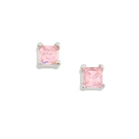 121800 brinco zirconia quadrada rosa claro colecao para elas rommanel loja brilho folheados