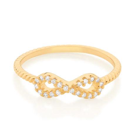 512885 anel skinny ring aro trabalhado composto por infinito vazado e cravejado por 22 zircônias marca rommanel loja revendedora brilho folheados 2