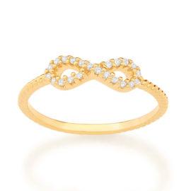 512885 anel skinny ring aro trabalhado composto por infinito vazado e cravejado por 22 zircônias marca rommanel loja revendedora brilho folheados