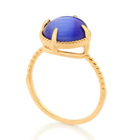 512898 anel solitário aro trabalhado pedra olho de gato azul marca rommanel loja revendedora brilho folheados 2