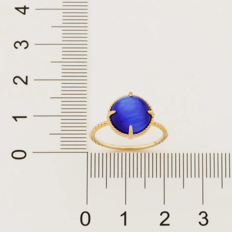 512898 anel solitário aro trabalhado pedra olho de gato azul marca rommanel loja revendedora brilho folheados 4