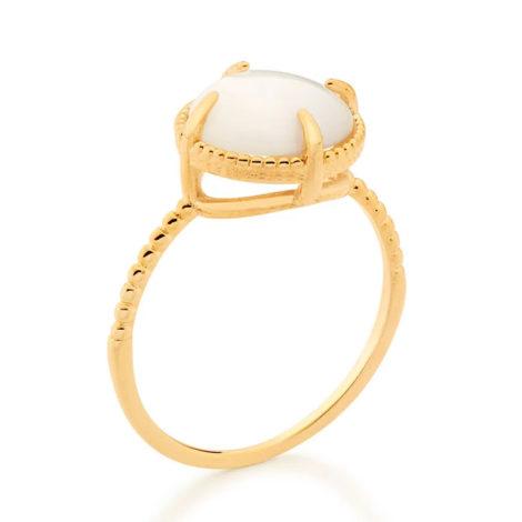512898 anel solitário aro trabalhado pedra olho de gato branca marca rommanel loja revendedora brilho folheados 2